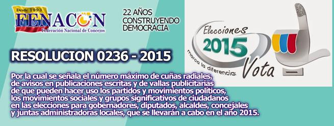 RESOLUCIÓN NÚMERO 0236 DE 2015 (Marzo 3)