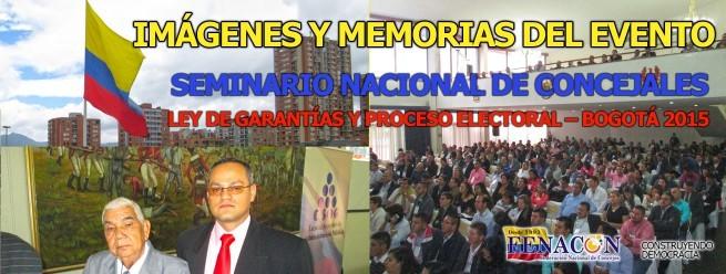 IMAGÉNES Y MEMORIAS SEMINARIO NACIONAL – BOGOTÁ ABRIL 2015