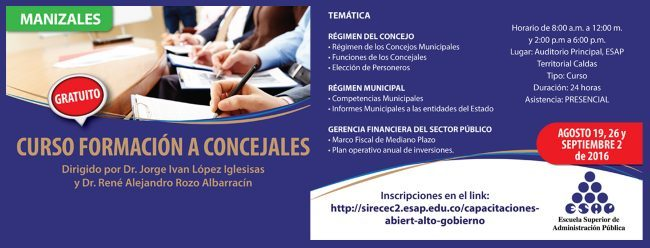 Curso Formacion a Concejales